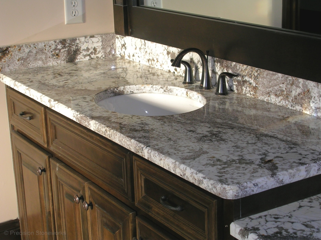 Granite For Bathroom Vanity bathrooms | precision stoneworks
