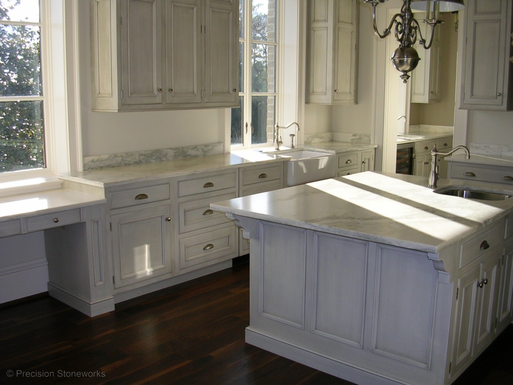 Blog precision stoneworks White kitchen cabinets with granite countertops photos