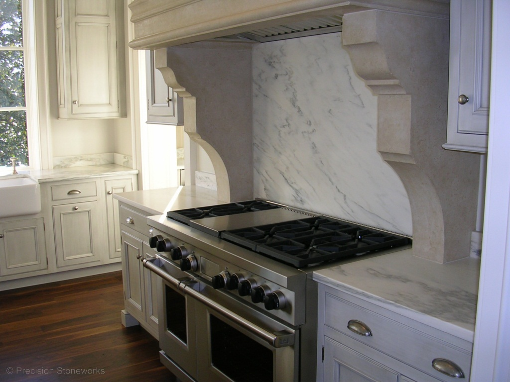 Atlanta granite kitchen countertops precision stoneworks - White kitchen marble ...