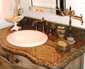 Atlanta Granite Bathroom Vanity with Ogee Edge
