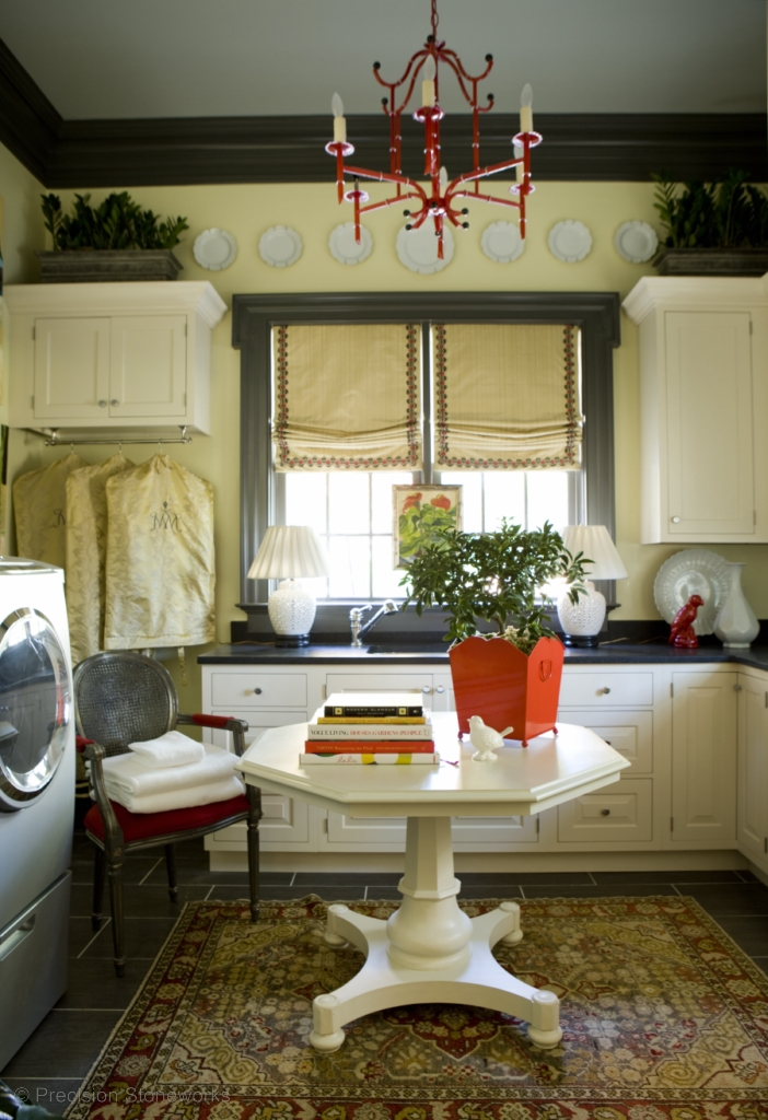 Laundry rooms precision stoneworks Small room